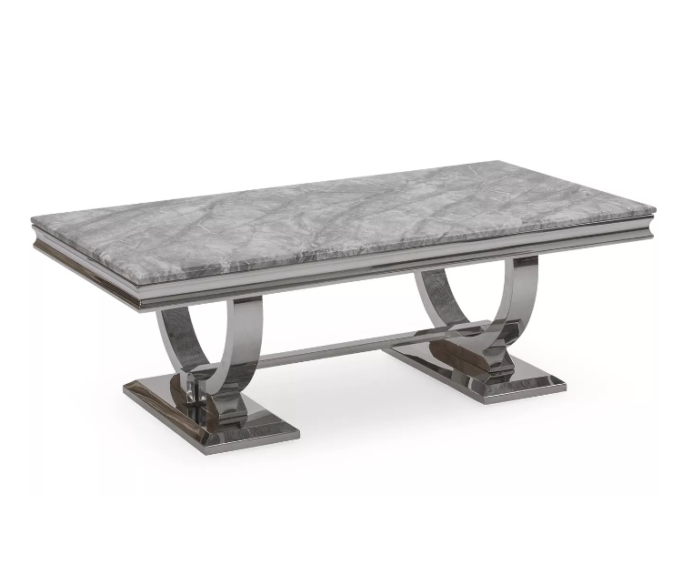 The Chicago Marble Coffee Table Diamond Furnishings