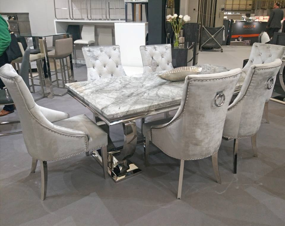 info for e3ef2 17900 The Chicago Grey Dining Table with Dark or Light Grey Chairs